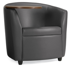 Sirena 3371LMLTL Leather Lounge Chair With Tablet Arm By Global