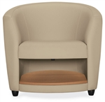 Sirena 3372LM Leather Lounge Chair with Storage Shelf by Global