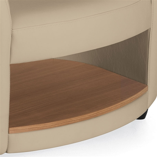 Furniture Deals Com: Sirena 3372LM Leather Lounge Chair With Storage Shelf By