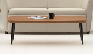 "sirena series 56"" coffee table with metal legs 3401global"