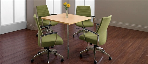 Wind Series Contemporary Square Office Table 3876 By Global