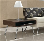 Wind Linear Series Side Table with Metal Legs 3879 by Global