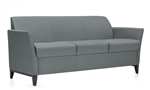 Global Total Office Model 5473 Camino Three Seat Sofa with Wood Legs