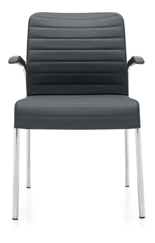 Global Total Office 5951 Lite Series Fabric Side Chair With Arms