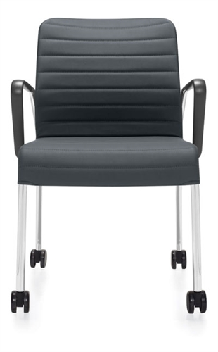 global total office 5952c lite series mobile side chair with loop arms