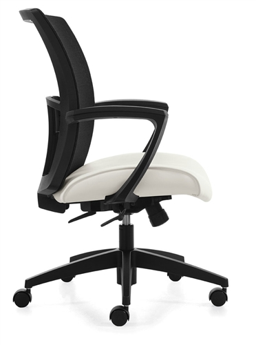 global total office vion mid back mesh conference chair 6322 4 c