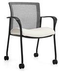 Vion 6325C Mesh Back Training Room Chair by Global
