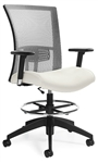 Global Total Office Vion Series Mesh Back Drafting Chair 6328-6