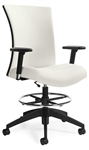 Vion Drafting Stool 6338-6 with Adjustable Arms by Global