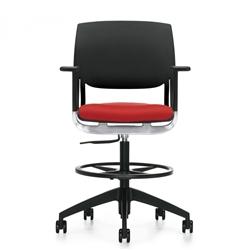 modern drafting chair. Global Novello 6410 Adjustable Modern Drafting Chair