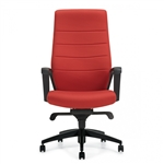 Global Luray Series High Back Leather Swivel Chair 6460LM-2