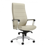 Global 6460LM-2 Luray Series High Back Office Chair with Knee Tilter Mechanism