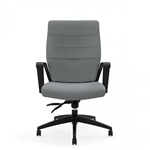Global Luray Modern Ribbed Back Conference Chair 6461-4
