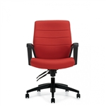 Global Luray Medium Back Leather Executive Chair 6462LM-4