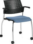 Sonic Mobile Guest Chair 6574 by Global