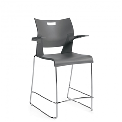 Duet Barstool with Arms 6630 by Global