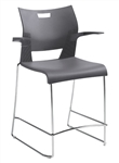 Duet Counter Height Barstool with Arms 6660 by Global