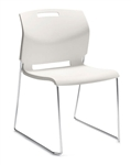 Popcorn Series Armless Stack Chair 6711 by Global