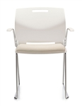 Popcorn Series 6712 Stackable Armchair with Upholstered Seat by Global