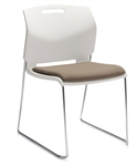 Popcorn Series 6713 Armless Stack Chair with Upholstered Seat by Global