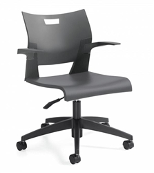 Global Duet Series Easy To Clean Multi Purpose Task Chair 6720
