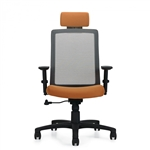 Global Spritz Series Adjustable Mesh Back Office Chair with Headrest 6760-4