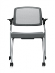 Global Spritz 6765C Mesh Back Nesting Training Room Chair