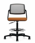Global 6767-6 Spritz Mesh Back Drafting Chair with Foot Ring