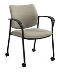 Sidero Arm Chair with Casters 6900C by Global