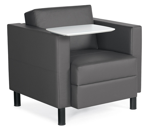 Furniture Deals Com: Global Citi Series Tablet Arm Leather Lounge Chair 7875LFLTL