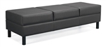 Leather Citi Series Three Seat Reception Bench 7894LF by Global