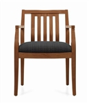 Mayne Series Vertical Wood Slat Guest Chair 8336T by Global