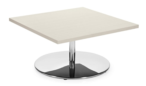 Jeo Series Square Top Coffee Table With Chrome Base By Global