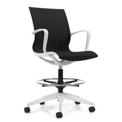 Global Solar Series 8457S Mesh Drafting Chair With Foot Ring