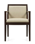 Layne Series Wood Reception Area Armchair 8525T by Global