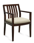 Layne Series Vertical Wood Slat Back Armchair 8526T by Global