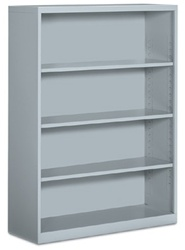 4 Shelf Metal Bookcase by Global