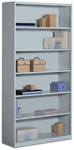 6 Shelf Metal Bookcase by Global