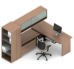 Princeton Modular Office Desk Configuration A10 by Global