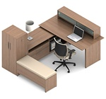 Princeton Modular Office Desk A1I by Global