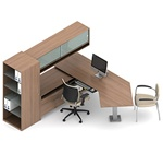 Princeton A1V Modular Executive Desk by Global