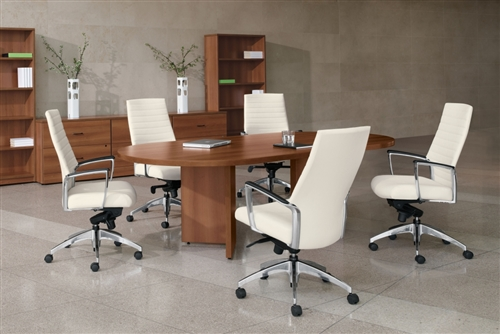 Global Total Office Adaptabilities Collection Oval Conference Table - Oval conference table for 6