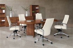 Global Total Office Adaptabilities Collection 6' Oval Conference Table