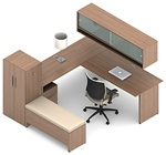 Princeton Modular Office Desk B2E1 by Global