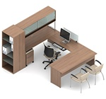 Princeton Modular Executive Desk B4R by Global