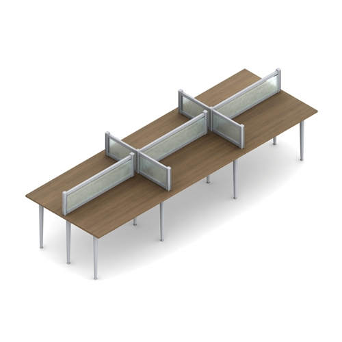 Global Total Office Bungee SL 6 User Open Concept Table Configuration BSL503