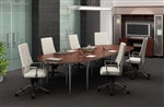 Global Total Office Bungee SL 12' Modular Boardroom Table Configuration