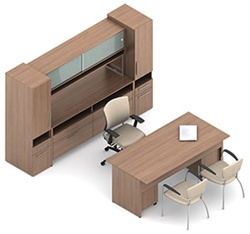 Princeton Executive Office Furniture Configuration C1F1 by Global