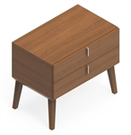Global Corby 2 Drawer Wood Veneer Office Pedestal CBYP2HB