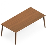 Global Corby Wood Veneer Executive Writing Desk